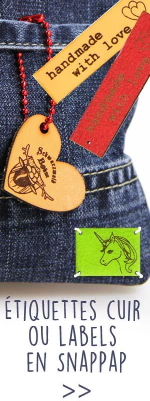 Étiquettes cuir ou labels en SnapPap