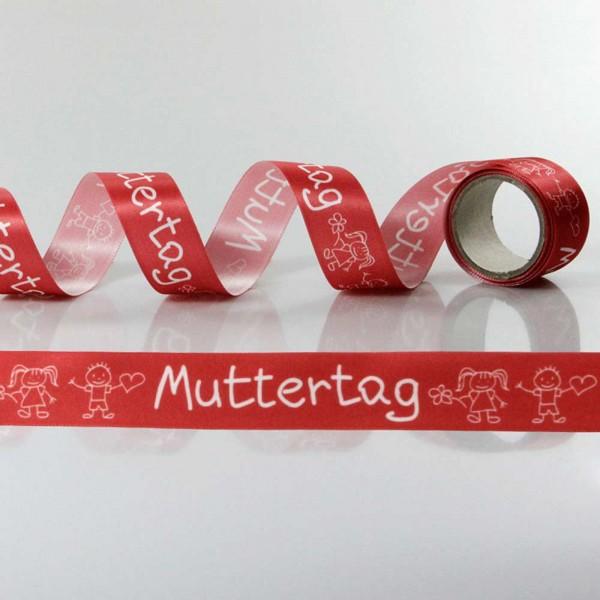 Satin-Geschenkband Muttertag, Dekoband