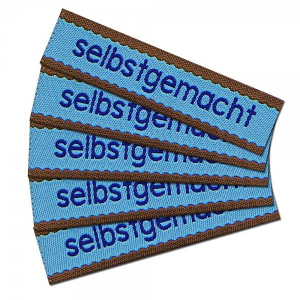 """Étiquette textile """"selbstgemacht"""""""