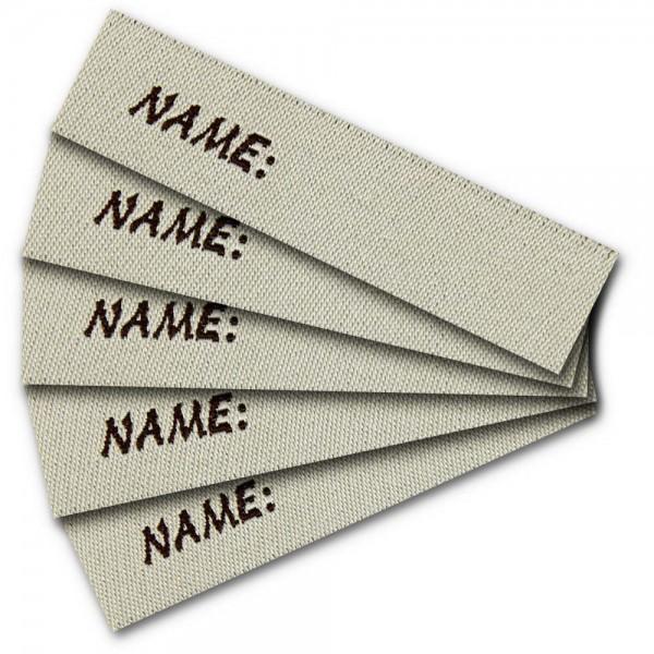 """Fix&Fertig - à étiqueter """"NAME"""" (à coudre)"""