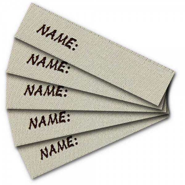Bügeletikett zum Beschriften Name, Textiletiketten