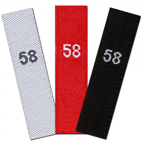 gewebte Größenetiketten 58
