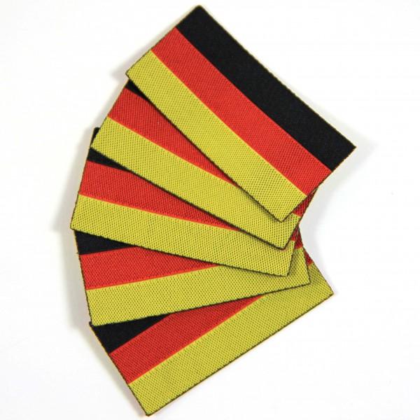 Textiletiketten Deutsche Flagge, Webetiketten
