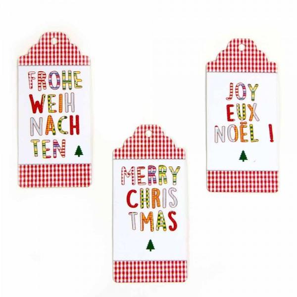 "Kartonetiketten, Hangtag ""Frohe Weihnachten"""