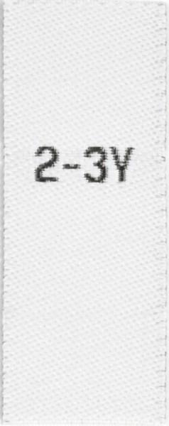 Größenetiketten für Kinder 2-3y
