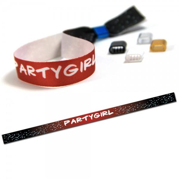 """ruban bracelet de soirée """"Partygirl"""" design 7"""