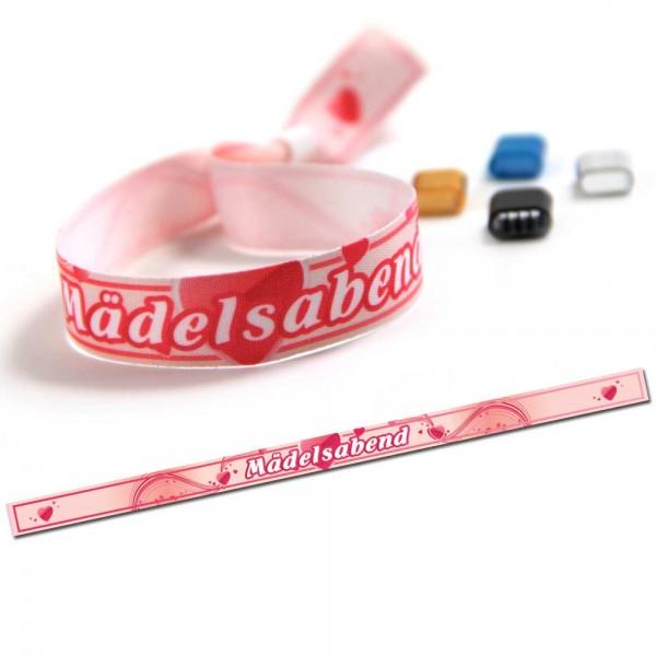 "ruban bracelet de soirée ""Mädelsabend"" design 1"