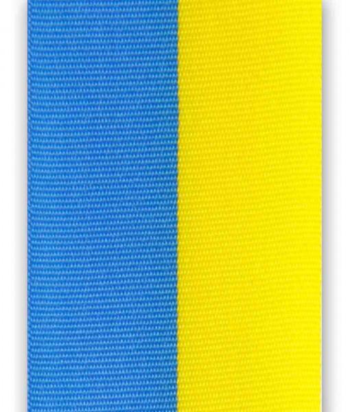 Nationalband mittelblau-gelb, Vereinsband