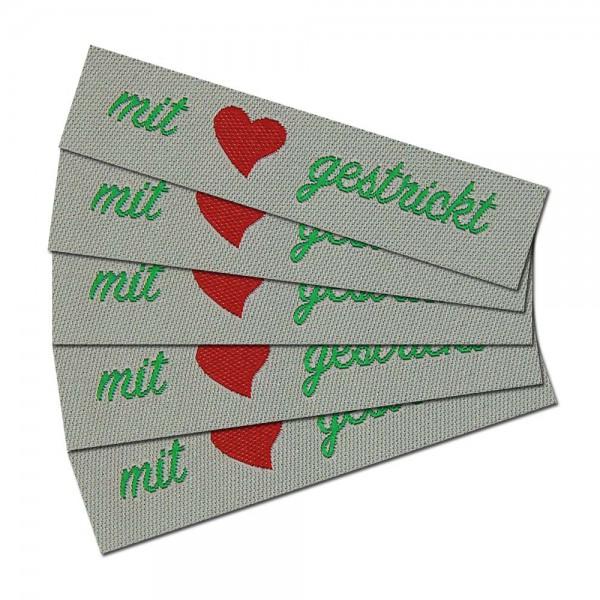 """Fix&Fertig - Étiquette textile """"mit Liebe gestrickt"""""""