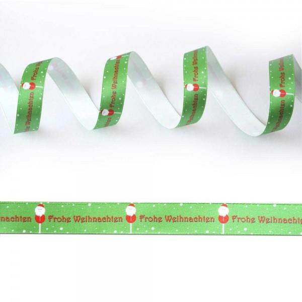 Satin-Geschenkband Frohe Weihnachten 2, Dekoband