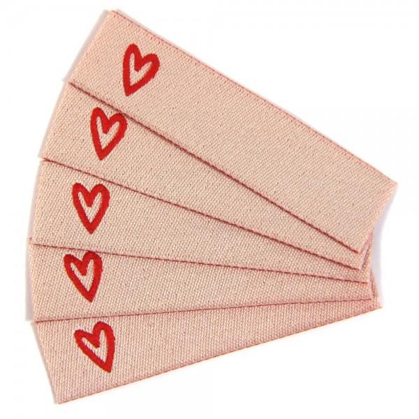 Textiletikett zum Beschriften Herz