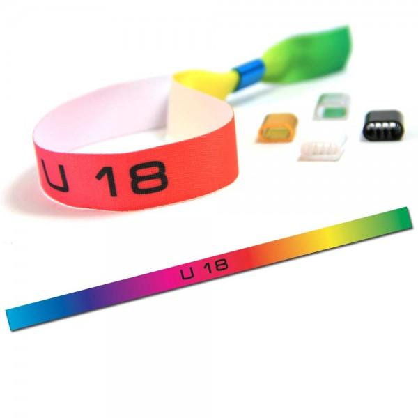 "Partyarmband ""U 18"" Design 3, Eintrittsband"