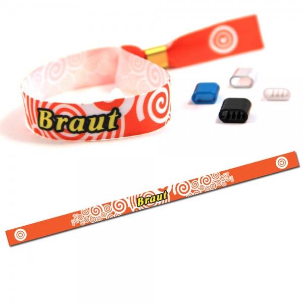 "ruban bracelet de soirée ""Braut"" design 2"