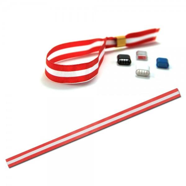 National- oder Vereinsarmband rot-weiß-rot, Eintrittsband
