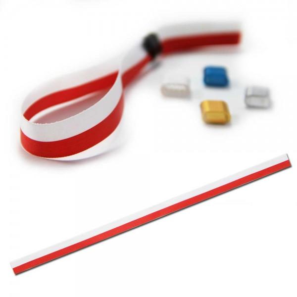 National- oder Vereinsarmband rot-weiß, Eintrittsband