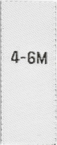 Größenetiketten für Kinder 4-6