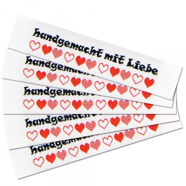 "Fix&Fertig - Étiquette textile ""handgemacht mit Liebe"""