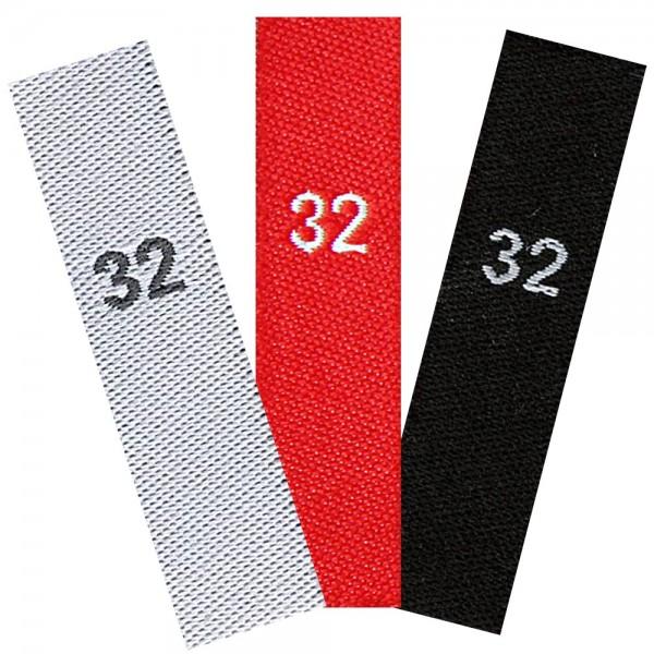 taille étiquettes tissées avec le chiffre 32