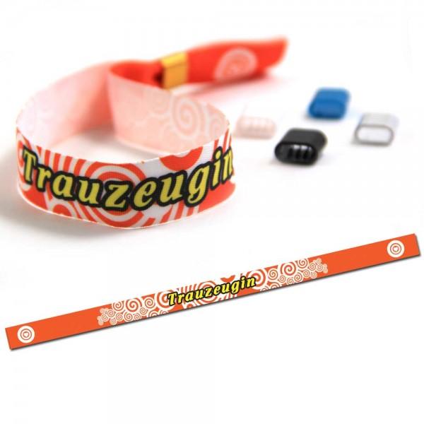 "ruban bracelet de soirée ""Trauzeugin"" design 2"
