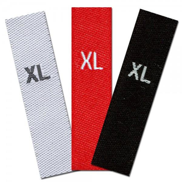 gewebte Größenetiketten XL