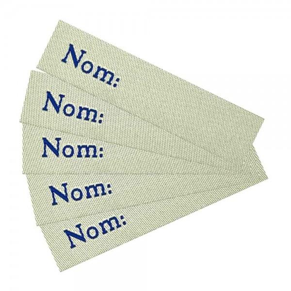 """Étiquette textile à marquer soi-même, thermocollante """"nom"""""""