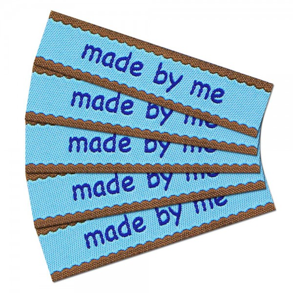 """Étiquette textile """"made by me"""""""
