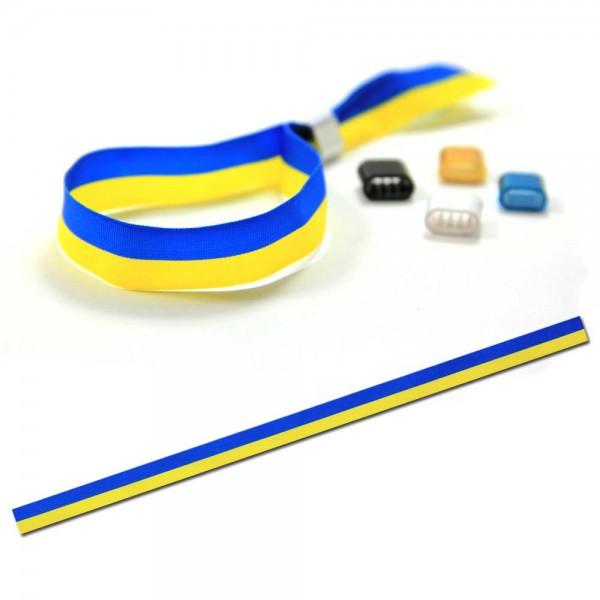 National- oder Vereinsarmband mittelblau-gelb, Eintrittsband