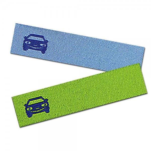 Bügeletikett zum Beschriften Auto, Textiletiketten